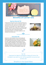 Benefits of Carrier Oils  Printable